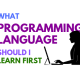 What programming language should I learn first is a common beginners' question. The post answers whether you should learn Java, C, or Python first as your first programming language.