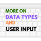 User Input in Java for Different Types of Variables