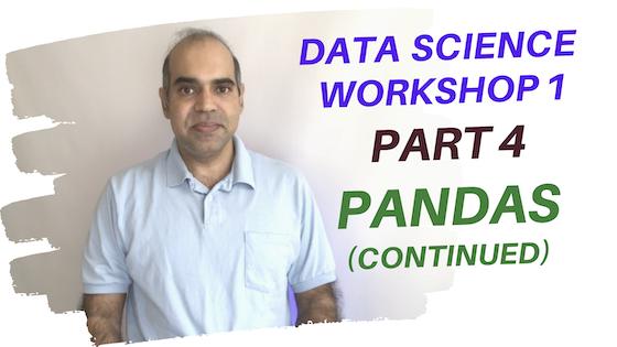 Data Science Workshop 1, Part 4: Pandas