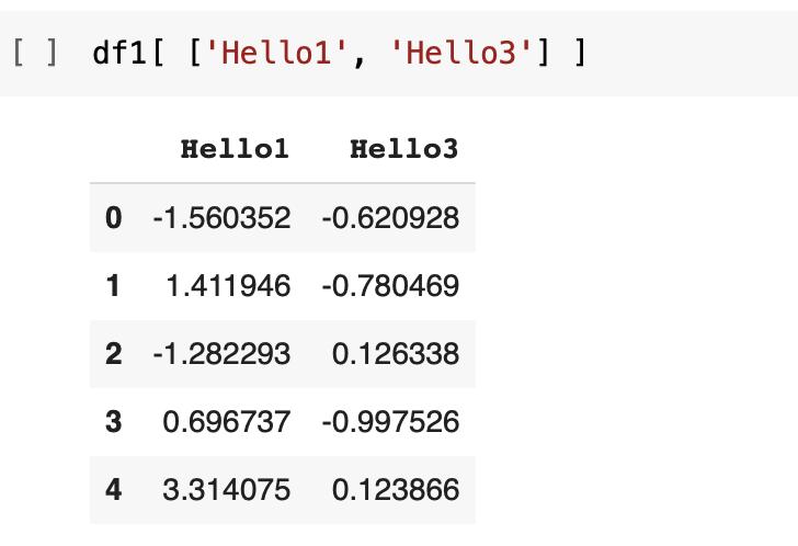 DataFrame two columns