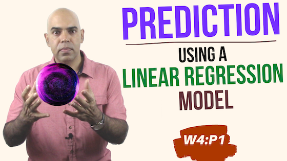 Prediction using linear regression models. (Data Science Workshop 4, Part 1)